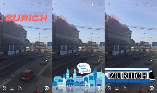 Geofilter-Zürich-Snapchat