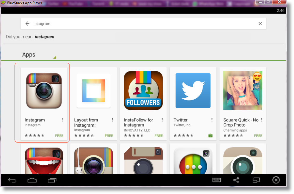instagram for pc using bluestacks