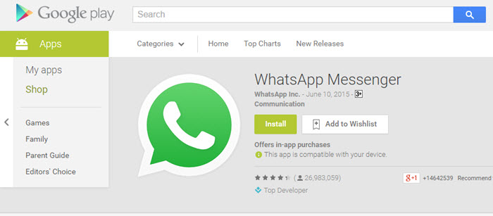 whatsapp APK for Samsung Mobiles