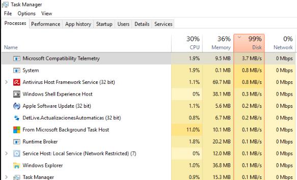 disable microsoft compatibility appraiser windows 7